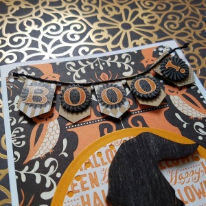 A Bit Of Glue & Paper - handmade Halloween card boo banner